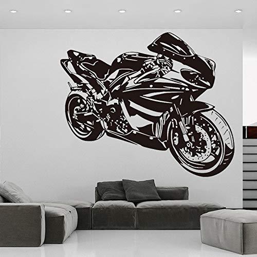 wZUN Calcomanías de Pared para Motocicleta, Mural para Dormitorio, decoración para Sala de Estar, Motociclista, Pegatinas para Conductores de Acrobacias, 34X42 cm