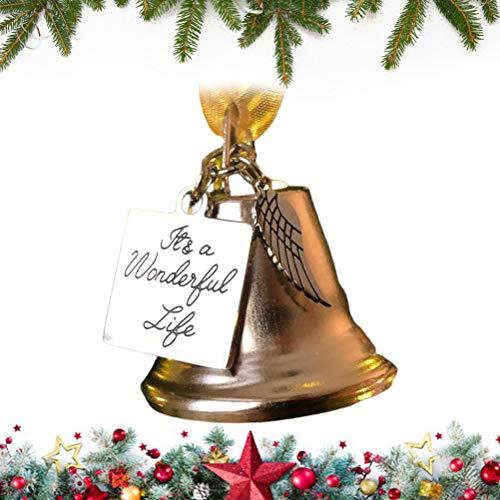 Knowooh Campana de Navidad Campana de Mano de Metal Campana de Servicio de Llamada Fuerte para Santa Claus Vestido Elegante de Navidad Accesorio de Disfraz Regalo conmemorativo para Amigos