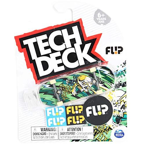 Tech-Deck Flip Skateboards Luan Oliveira Blast Flower Skull Ultra Rare Green 2020 Complete 96mm Fingerboard
