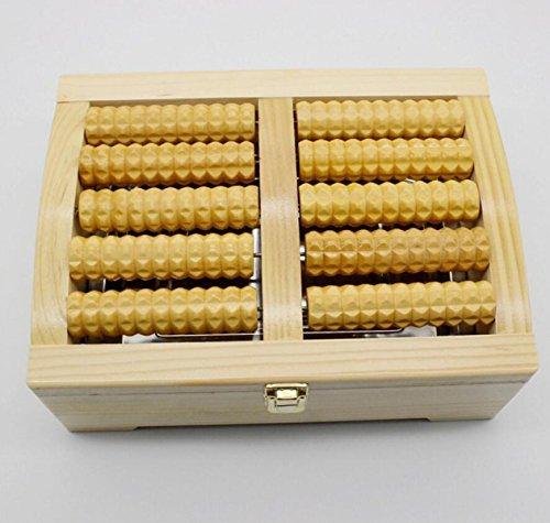 Preisvergleich Produktbild Fünf Reihen Von Holz Häusliche Pflege Fuß-Massage-Roller