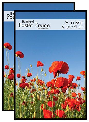 MCS Original Poster Frame, 24 x 36 Inch, Black, Set of 2