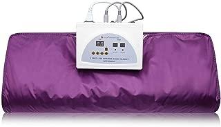 HUKOER Far-Infrared (FIR) Sauna Blanket Digital Heat Sauna Slimming Blanket Body Shaper Weight Loss Professional Detox Therapy Anti Ageing Beauty Machine (Purple)