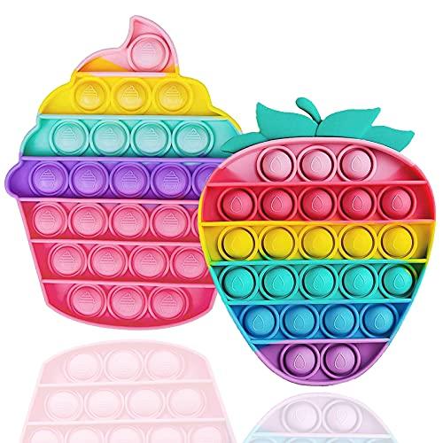 Popits Fidget Toy, Push Pop Among Us Pokemon Sensoriales Tablero de Ajedrez Arcoíris Educativo para Aliviar el Estrés, Juguetes Antiestres Adecuado para Autismo Ansiedad Niños y Adultos