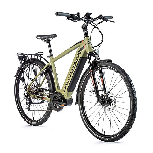 28 Zoll Trekking E Bike Leader Fox Lucas Gent Pedelec Elektro Fahrrad Mittelmotor Rh 57cm Oliv