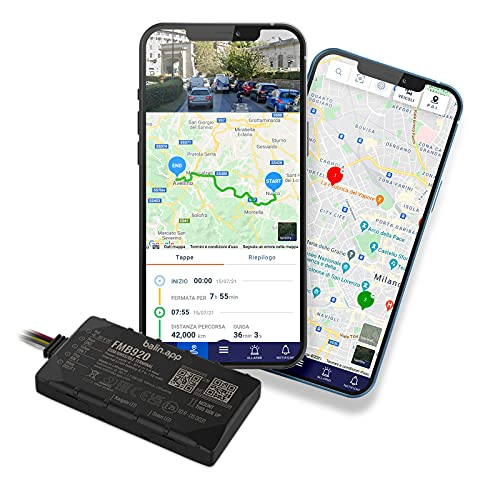 Balin.app - Localizzatore GPS professionale per veicoli, con SIM card e traffico dati, tutto incluso. Dispositivo già configurato e pronto all uso. Controlla i veicoli da Portale Web e App.