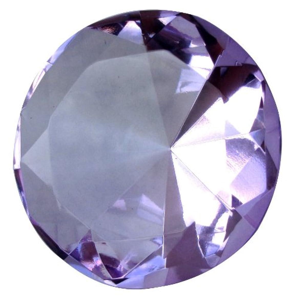 ベーシックデモンストレーション豊富なGiant Purple 60 Mm Cut Glass Diamond Jewel Paperweight