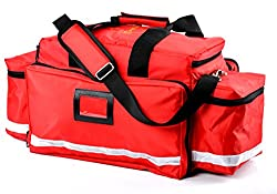 Image: Aurelius Large Capacity First Aid Responder Bag Empty EMT Trauma Bag, Emergency Supplies Not Included