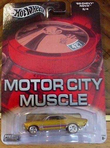 compra en línea hoy Hot Wheels Motor City Muscle '68 Chevy Nova 3 4 4 4 oro by Mattel  venta mundialmente famosa en línea