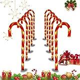 Bastón de Caramelo de Navidad Luces de Señalización de Camino, USB Luces de Bastón de Caramelo Decoraciones Marcadores, LED Caramelo Marcadores de Camino Navidad Luces Decorativas (53 cm, 1 Set)