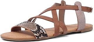 BalaMasa Womens ASL06793 Pu Flats Sandals