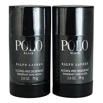 Ralph Lauren Polo Black Alcohol Free Deodorant Stick 2 Count