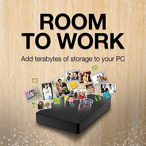 Seagate Expansion Amazon Special Edition 4 TB Externe tragbare Festplatte (6,35 cm (2,5 Zoll)) & Amazon Basics Schutzhülle für Externe Festplatten