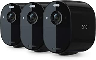 Arlo Essential Spotlight Camera | 3 Pack | Wire-Free, 1080p Video | Color Night Vision, 2-Way Audio, 6-Month Battery Life...