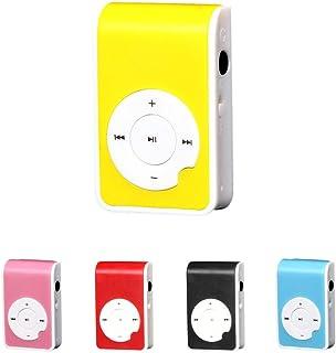 Portable Mp3 Player Walkman Mini USB Clip MP3 Player Screen Support 32gb SD TF Sports Car Mp3#10 : China, Yellow