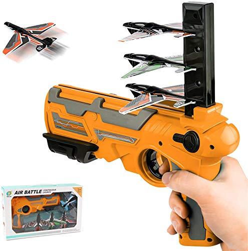 Avión de catapulta, lanzador de avión de catapulta, avión de catapulta de espuma de aire, lanzador de modelo de expulsión de un clic, juguete, avión de juguete de catapulta de burbuja