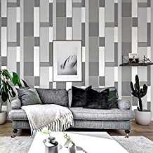 Special/Simple Non-Woven Striped Plaid Wallpaper Living Room Bedroom Wallpaper Plain Gray (Color : Plain Grey, Size : 0.53...
