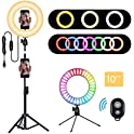 "Matacru 10"" RGB Selfie Ring Light with Tripod Stand"