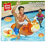 Play Day Wild Water Rodeo Inflatable Ride On Bull Float for Your Swimming Pool