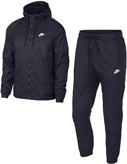Nike Men's Sportswear Woven Tracksuit (Obsidian, M)