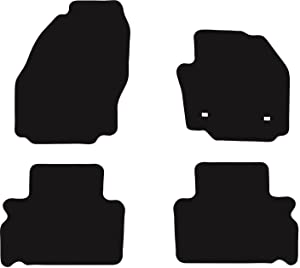 Premier Products Fully Tailored Black Rubber Penny Car Mats fit  Galaxy 2006-2015 283mm Spacing