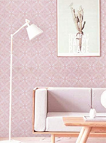 Pink Wallpaper Pink Wall Paper Pink Peel and Stick Wallpaper Removable Pink Contact Paper Girl Flower Wallpaper Wall Covering Self Adhesive Wallpaper Shelf Drawer Liner Vinyl Decal Roll17.7''x78.7''