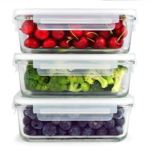 Simplyesta Glass Meal Prep Food Storage Containers BPA free