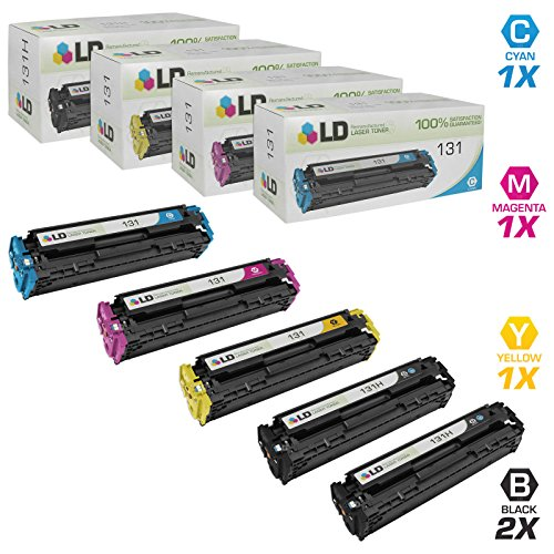 LD Remanufactured Toner Cartridge Replacement for Canon 131H & 131 (2 Black, 1 Cyan, 1 Magenta, 1 Yellow, 5-Pack)