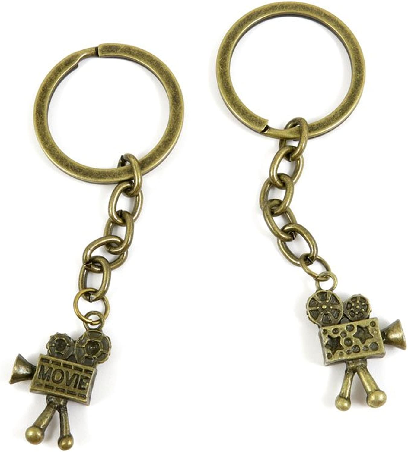 100 PCS Keyrings Keychains Key Ring Chains Tags Jewelry Findings Clasps Buckles Supplies E1DK3 Projector Bioscope