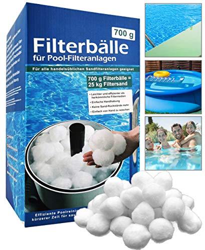 My-goodbuy24 Pool Filterbälle 700g ersetzen 25kg Filtersand - Extra langlebige Filter Balls für glasklares Wasser im Pool - Filterballs für die Sandfilteranlage - Schwimmbad, Filterpumpe und Aquarium