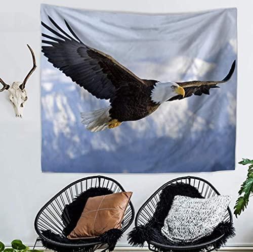 Tapiz Para Colgar En La Pared, Esterilla De Yoga, Toalla De Playa, Manta, Dormitorio, Dormitorio, Decoración De Arte De Pared Para El Hogar (150X200Cm), 79X59 Pulgadas, Águila Voladora De Moda