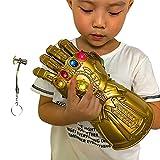 Pucloce Guante Infinity Gauntlet para niños, guante Iron Man LED, se ilumina con el imán extraíble Infinity Stones-3 modos Flash.