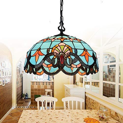 DALUXE Tiffany Appeso Tiffany Lampada Luminosa Sala da Pranzo a Sospensione Illuminazione Vicoorian...