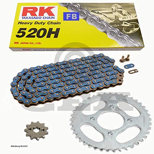 Kettensatz geeignet für XL 125 V Varadero 01-13 Kette RK FB 520 H 110 offen BLAU 14/44
