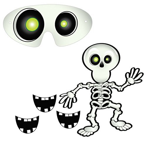 Amscan International ltd 394842 Skeleton Party Game Accessory-14 Pcs, Multi-Colored