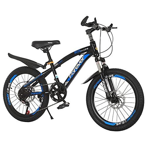 Axdwfd Infantiles Bicicletas Bicicleta al Aire Libre Infantil con Mudguard y Stand Adecuado para niños y niñas de 7 a 14 años. (Color : Blue, Size : 18in)