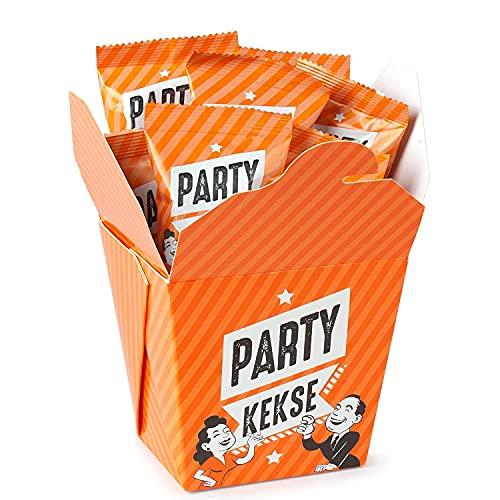 9er Box Party-Kekse | die beliebtesten & unbeliebtesten Anmachsprüche im Glückskeks | professionelles Süßholzraspeln bis unbeholfenes Baggern | für Feiern, Feste, Single und Dating Partys | vegan