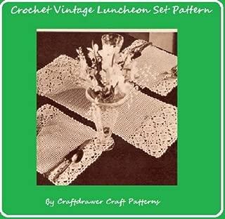 Crochet Luncheon Set Pattern - Vintage Crochet Patterns for Placemats and Center Runner Mat