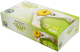 SmoothTouch Disposable Vinyl Gloves - Powder Free - M