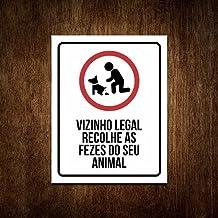 Placa Recolha Coco Fezes Cachorro Sinalização Vizinho Legal