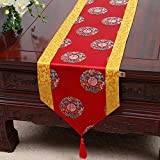 Table Runner Christmas,Creative Chinese Festive Rich Luxury Art Extra Long Wide Christmas Easter Decor Dining...