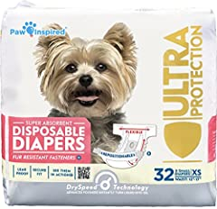 Best Dog Diapers on the Market, Check the sizing chart to assure suitable sizing so Diapers Stay on and Stay Put Leak Proof, Super Absorbent Core, Comfortable, and Secure Fit   Breathable Bottom layers and Gathered Leak Proof Edges Repositionable Fur...