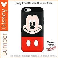 [Disney Card Double Bumper カード ダブル バンパー 正規品 ] iphone6 ip 6 6s ip6/6s ip6 ip6S ip6plus ip6splus ケース ディズニー ディズニーケース iphone6 iphone6S plus iphone6splus iphone6plus ケース カバー バンパーケース シリコンバンパー Disneyケース カード収納 ミラー付き スタンド機能 二重バンパーケース ディズニーケースミッキー ミニー ドナルド デイジー プーさん スティッチ キャラクター ブランド ケース カバー (【iPhone6 iPhone6s】, ミッキー) [並行輸入品]