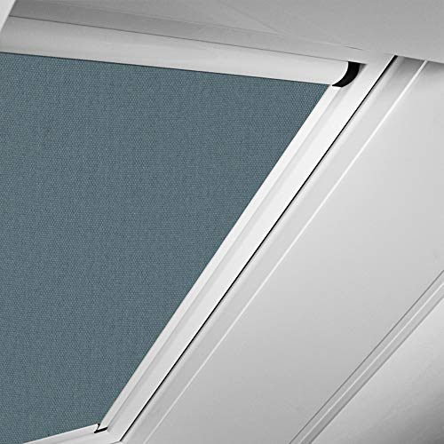 Roto Original Verdunkelungsrollo ZRVM für R75/R78, Fenstergröße 7/11 in der Stofffarbe 1-V06/dunkelgrau, WDF KAW KEW Rollo Rollos