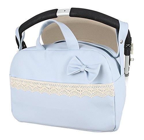 "Bolso Maternal lactancia para capazo carrito bebe ""danielstore"" . Color azul ( Mod Penelope )"