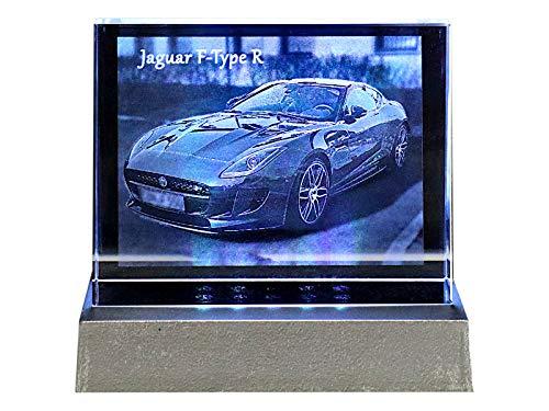 C-Kom Personalisiertes 2D Kristall-Glasfoto Glasquader Glaskristall Laser Gravur Foto Liebe Geschenk Kristallglas