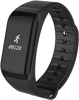 oukery Smart Bracelet, F1 Waterproof Bluetooth Smart Bracelet Blood Pressure Heart Rate Monitor Fitness Sport Tracker Wristband Smartbracelet with Pedometer