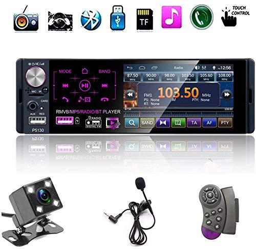 mächtig der welt Single Din 12V Autoradio Radio 4,1 Zoll Auto MP5 Player, mit Bluetooth Freisprecheinrichtung und Audiofunktion,