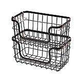 AmazonBasics - Cestas de metal apilables para almacenaje, para cocina o baño