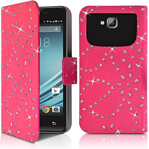 Seluxion - Funda universal XL para Samsung Galaxy S7 Edge, diseño de diamantes, color rosa