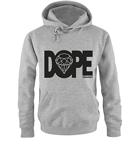 dope diamond - Deluxe - Einfarbig Herren Hoodie in Grau/Schwarz Gr. L